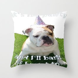 It's My Pawty  Throw Pillow