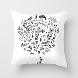 Rider Pattern Throw Pillow