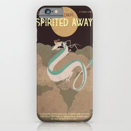 Minimalist Spirited Away iPhone Case