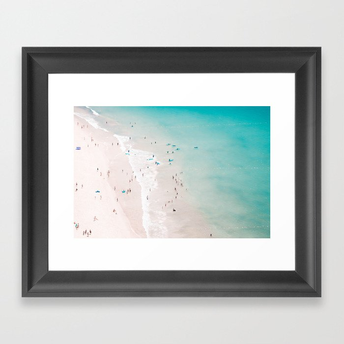 beach - summer love II Gerahmter Kunstdruck