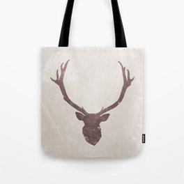 Deer stag silhouette grunge design Tote Bag