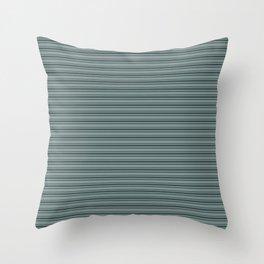 Night Watch PPG1145-7 Horizontal Stripes Pattern 2 on Scarborough Green PPG1145-5 Throw Pillow