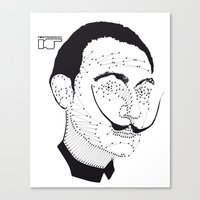 dali Canvas Prints featuring DALI by pointing@faces