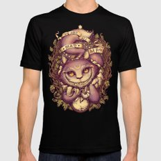 Cheshire Cat Black Mens Fitted Tee SMALL
