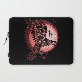 Vikings crow of death - RED Laptop Sleeve