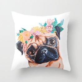 Popped Pug #3 Throw Pillow