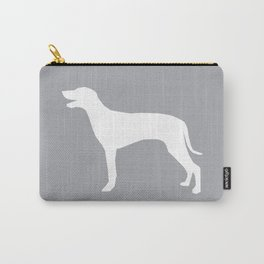 Weimaraner dog silhouette simple minimal black and white dog art Carry-All Pouch