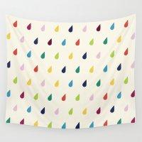 xbox Wall Tapestries featuring Raindrops by Cute Cute Cute