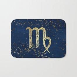 Virgo Zodiac Sign Bath Mat
