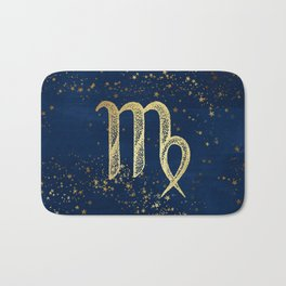Virgo Zodiac Sign Bath Mat