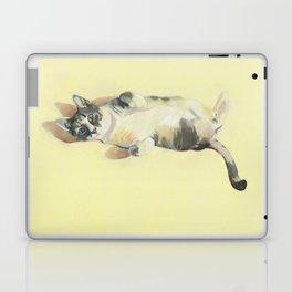 "Frankie - 9"" x 12"" Oil on Panel Cat Portrait Laptop & iPad Skin"