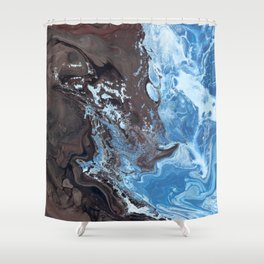 Surfing Surfer Abstract Art Waves Shower Curtain