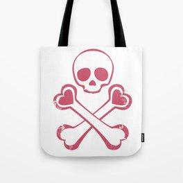 Valentine's day T-shirt Love With Jolly Roger Tote Bag