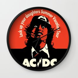 Ac/Dc angus young Wall Clock