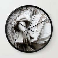 moscow Wall Clocks featuring Statues Moscow by RMK Photography