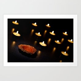 A Holder Without A Candle... Art Print