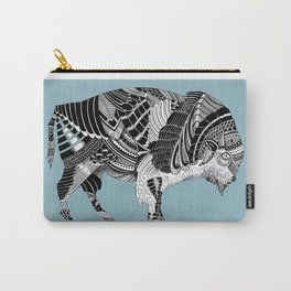 BLUE BISONTE-. Carry-All Pouch