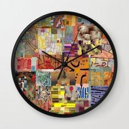 Paul Klee Montage Wall Clock