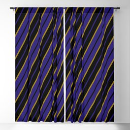 Baltimore purple and gold stripes Blackout Curtain