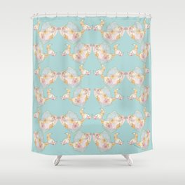 tropical watercolor fish Shower Curtain