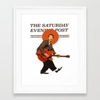 marty mcfly Framed Art Prints featuring Marty Mcfly by IF ONLY