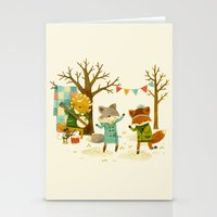 spring Stationery Cards featuring Critters: Spring Dancing by Teagan White