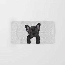 Black Frenchie 001 Hand & Bath Towel