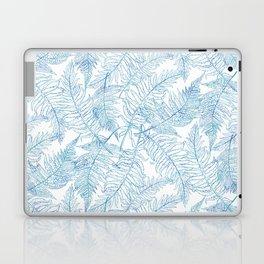 Fern Silhouette Blue Laptop & iPad Skin