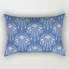 Light dreams. Blue Deco. No. 1. Rectangular Pillow
