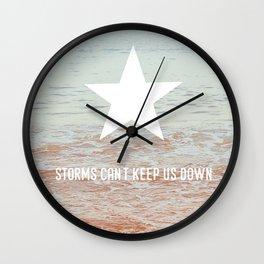 Lone Star Storm Wall Clock
