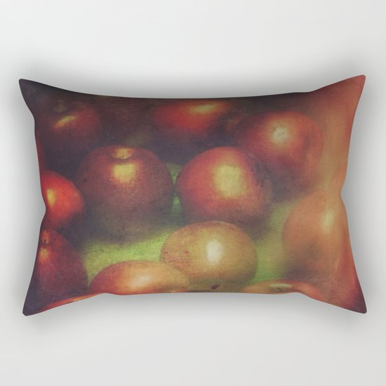Once Upon a Time a Red Apple Rectangular Pillow