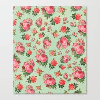 floral pattern Canvas Prints featuring FLORAL PATTERN by Allyson Johnson