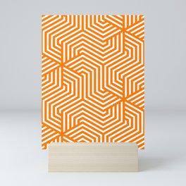 Safety orange - orange - Minimal Vector Seamless Pattern Mini Art Print