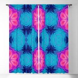 Pink Flower Pattern Abstract Art Seamless Geometry Blackout Curtain