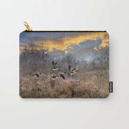 Sunset Geese Landscape Carry-All Pouch