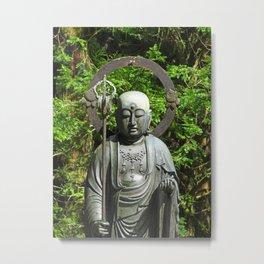 serene bronze Buddha on Mount Koya Metal Print