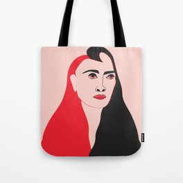 Minimal style illustration of a woman Tote Bag