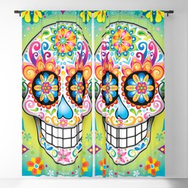Sugar Skull Art (Jubilee) Blackout Curtain