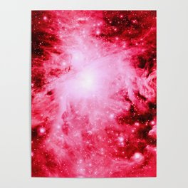 Red Orion Nebula Poster