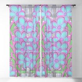 Flower Vine Sheer Curtain