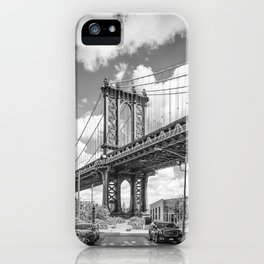 NEW YORK CITY Manhattan Bridge | Monochrome iPhone Case