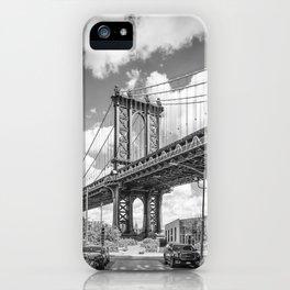 NEW YORK CITY Manhattan Bridge   Monochrome iPhone Case