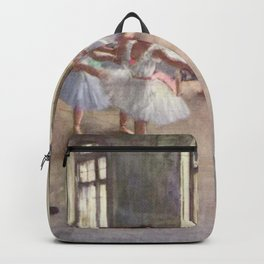 Ballet Rehearsal 1873 By Edgar Degas | Reproduction | Famous French Painter Backpack