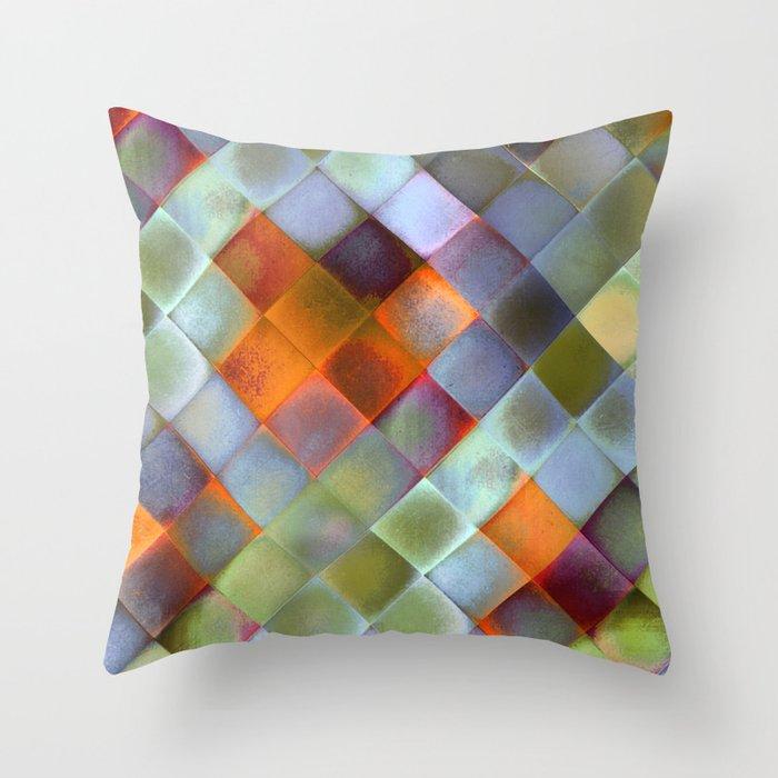 CHECKED DESIGN II-v9 Throw Pillow