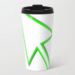 Cursor Arrow Mouse Green Line Travel Mug