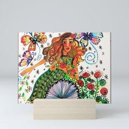 Persephone in Her Garden Mini Art Print