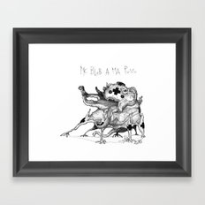 Mc Blob a ma Puss Framed Art Print
