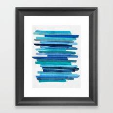 Blue Stripes Framed Art Print