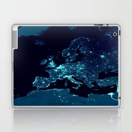 Earth's Night Lights : Teal Laptop & iPad Skin