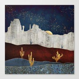 Moonlit Desert Canvas Print